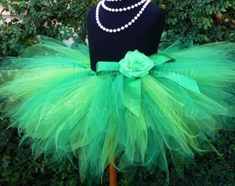 St. Patrick's Day Pixie Tutu - Adult Tutu - Teen Tutu - Tutu Skirt for Women - St Patricks Tutu - SEWN 15'' Pixie Tutu