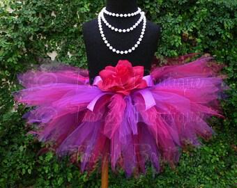 """Fuchsia Tutu, Purple Tutu, Plum Tutu, Pink Tutu, Baby Tutu, 1st Birthday Tutu, Purple Pink Tutu, Plumberry, 8"""" Pixie Tutu, Girls Tutu Set"""