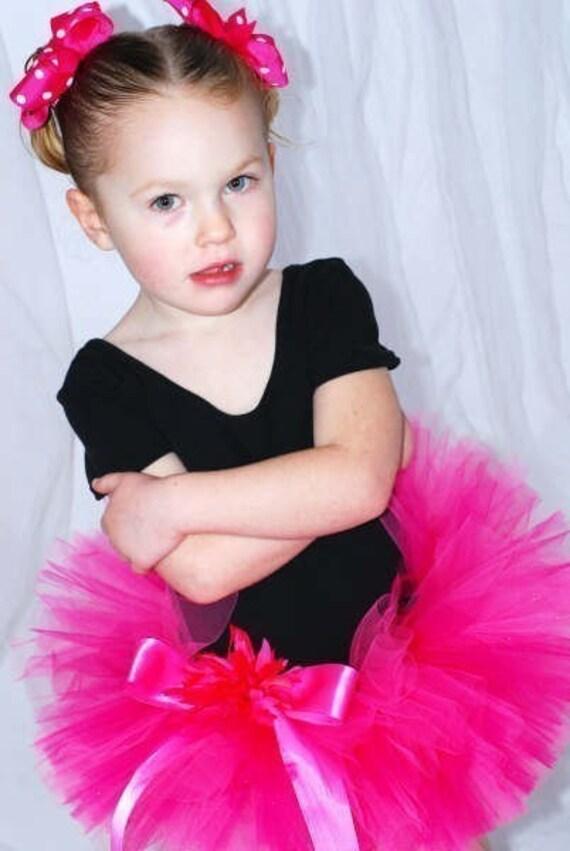 "Pink Tutu - Custom Sewn Tutu - Passion for Pink Tutu - 6"" Tutu - sizes newborn up to 24 months"