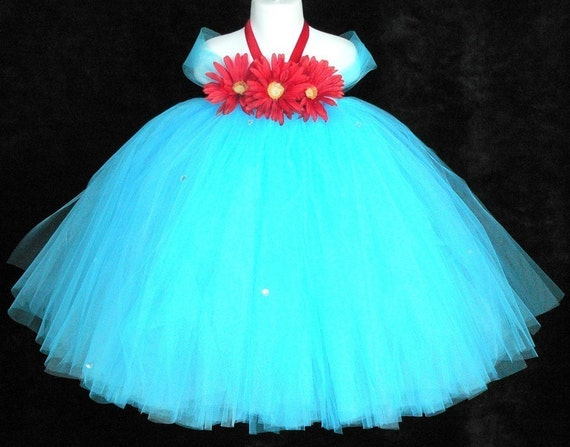 Desert Bloom - Custom Sewn Tutu Dress - any size up to 5T and 30 inches in length