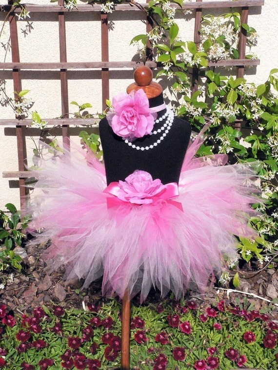 "Baby Tutu - Pink Tutu - Birthday Tutu - Sewn 8"" Pixie Tutu - PINK POWDER PIXIE - Infant Toddler Pixie Tutu - sizes Newborn to 12 month"