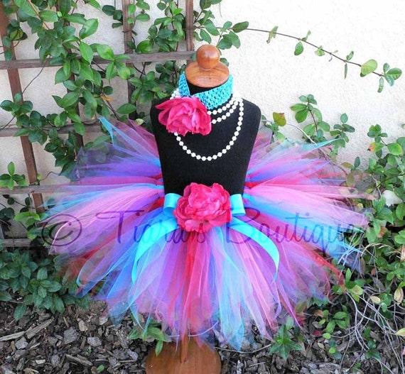 Pink Red Blue Purple Tutu, Berry Bright Birthday, Girls Tutu, Custom Sewn Tutu, Pixie Tutu for Babies, Toddlers, Tweens