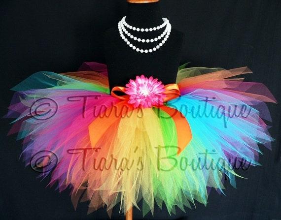 Rainbow Tutu - Custom Sewn Pixie Tutu - Aura - A Magical Rainbow Tutu