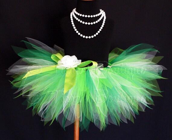 """Green Baby Tutu - St Patricks Tutu Set - Birthday Tutu - Ireland Dreams - Sewn 8"""" Pixie Tutu - sizes Newborn to 12 months"""