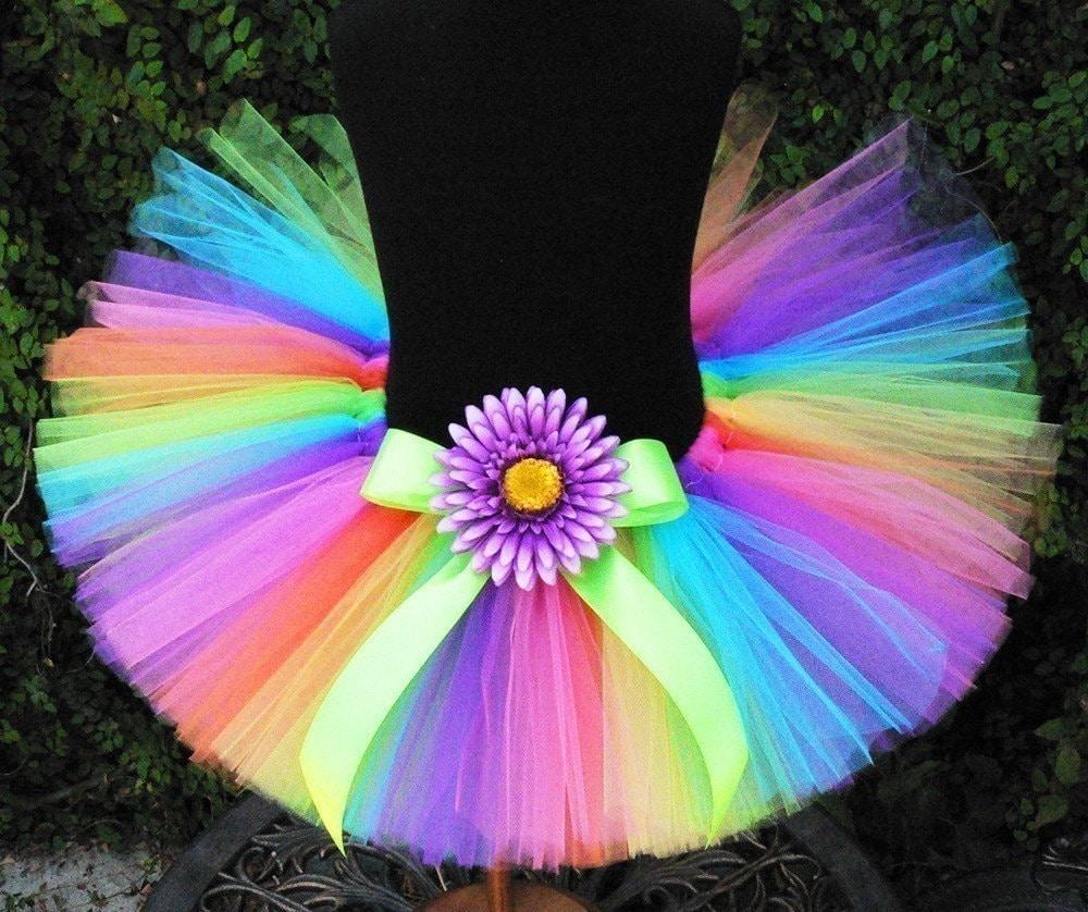 Girls Tutu Neon Rainbow Tutu Birthday Tutu Brilliant