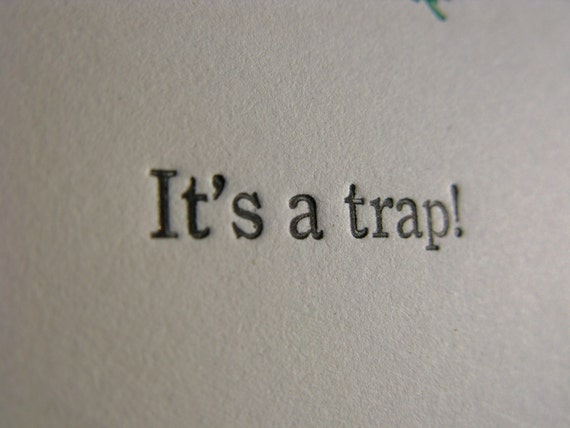 It's a trap Venus Flytrap Letterpressed cards (Set of 3)
