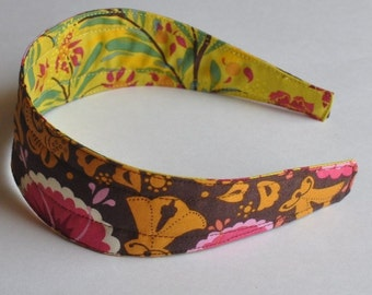 REVERSIBLE Good Folks Fortune in Chocolate Flexible Fabric Headband