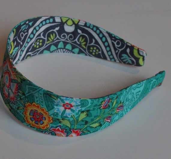 REVERSIBLE Jade Heirloom Comfort Fit Fabric Headband