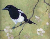 Magpie and Dogwood greeting card