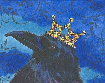 The Raven King notecard