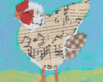 The Singing Chicken notecard