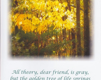 Golden Tree frameable LARGE greeting card