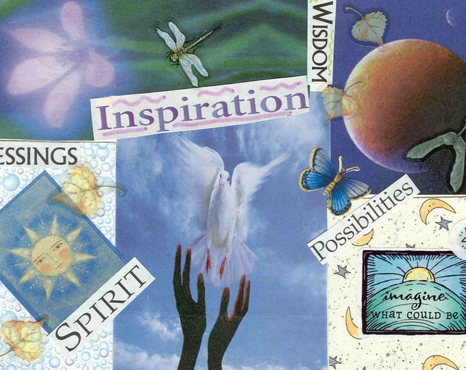 Blessings collage greeting card