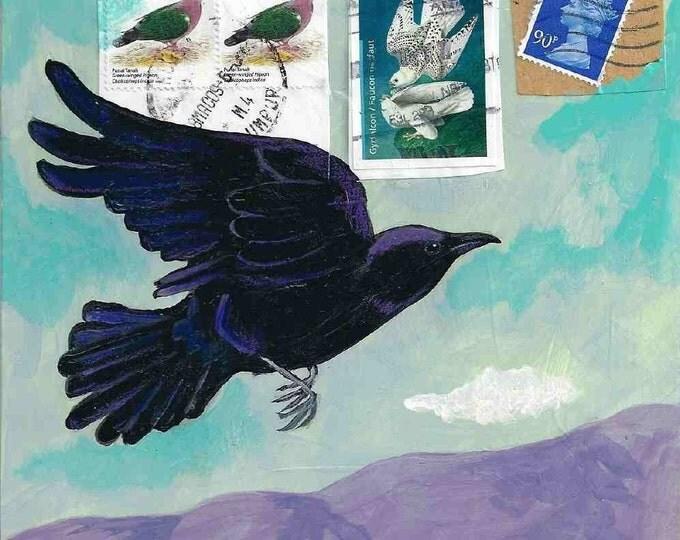 As The Crow Flies   notecard