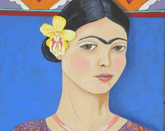 Young Frida embellished art print