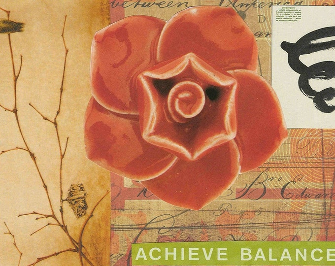 achieve balance collage greeting card