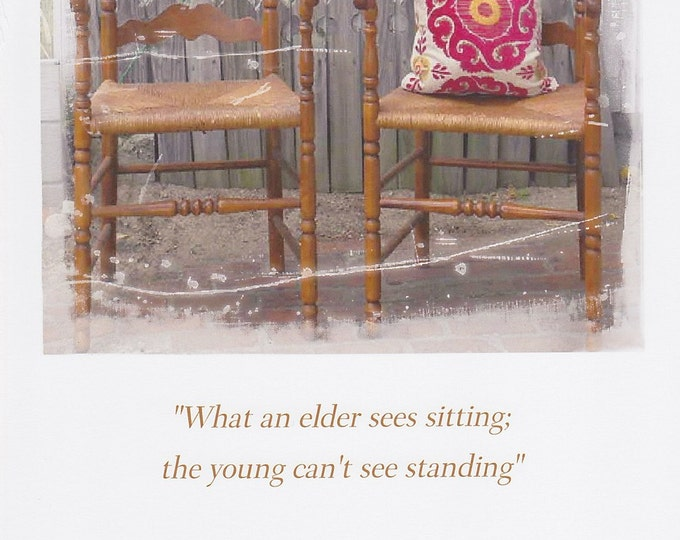 Elder wisdom quote large greeting card