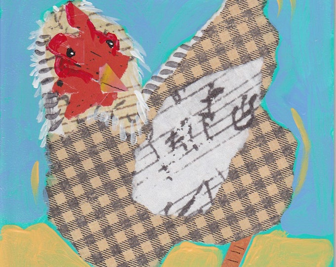 Singing Chicken 2 greeting card