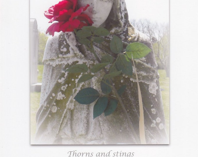 Rose Angel large quote card