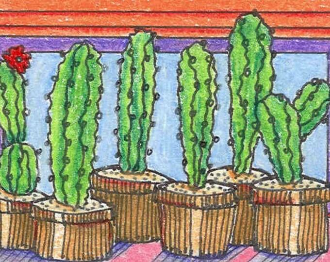 Cactus Pots greeting card