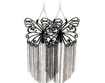 Poparazzi Celebrity Inspired Butterfly Earrings - Extra Large