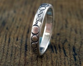 multiple O    ring sterling silver handmade