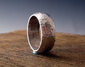silversmiths ring sterling silver hammer forged recycled metal handmade