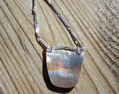 Abalone Pendant on Sterling Silver 18 inch Chain