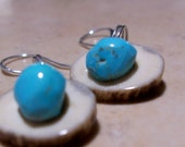 Little Robins Eggs on Deer Antler Earrings