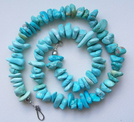 Kingman Turquoise Nugget Necklace - 22 Inches