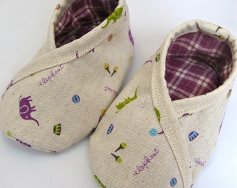 Trimmed Kimono Booties - 0-24 months - PDF Tutorial & Pattern