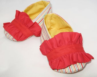 Ruffled Baby Loafers - 0-24 months - PDF Tutorial & Pattern