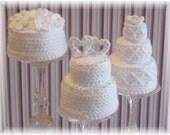 Mini Wedding Cakes...PDF Pattern