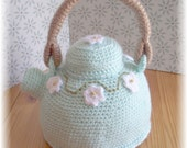 Mint Green Fancy Teapot...PDF Pattern