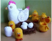 Hens and Chicks...PDF Crochet Pattern