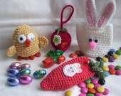 Easter Sweets Pockets...PDF Crochet Pattern
