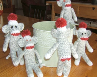 Mini sock monkey...PDF Pattern