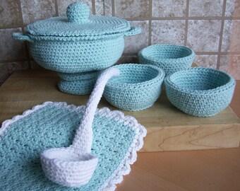 Soup Toureen...PDF Crochet Pattern