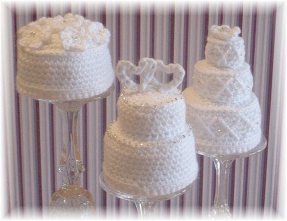 Crochet Mini Wedding Cakes...PDF Pattern