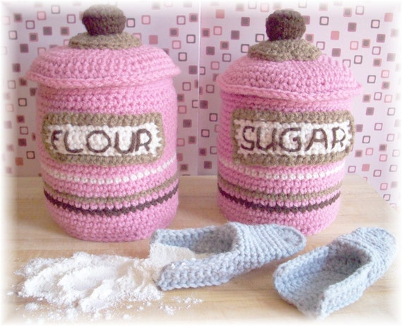 Crochet Canister Set.... PDF Pattern