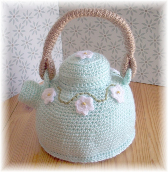 Mint Green Fancy Teapot...PDF Pattern