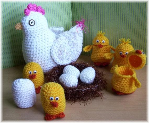 Hens and Chicks...PDF Crochet Pattern
