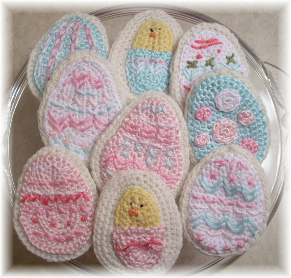 Crochet Easter Egg Sugar Cookies...PDF