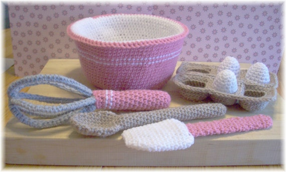 Crochet Baking Utensils...PDF  Pattern