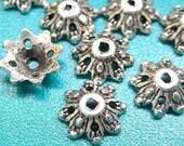50pcs Antique Silver bead cap (BC509S)