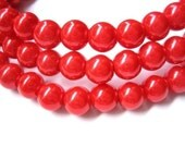 80pcs 8mm Glass pearl beads -  red