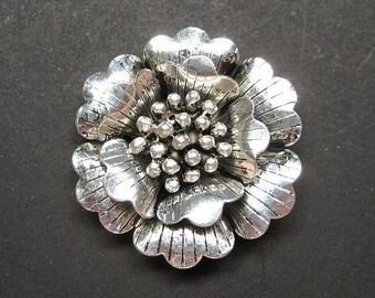 1pc Antique silver large flower pendant charm