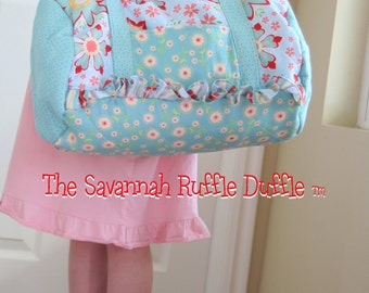 Savannah Ruffle Duffle Bag pattern
