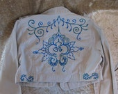 EXCELLENT PRICE Hand Painted Jacket With Om