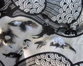 Party Pack of 6 Feather Hair Fascinators in Shades in Black and White